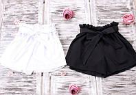 Женские шорты объёмные с поясом-бантом P6981