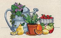 "Набор для вышивания крестом ""Fresh Strawberries//Свежая клубника"" Janlynn • 017-0109"