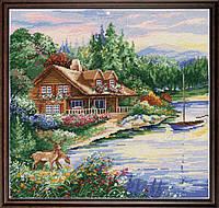 """Набор для вышивания крестом """"Lakeside Cabin//Дом на берегу озера"""" Design Works • dw2767"""