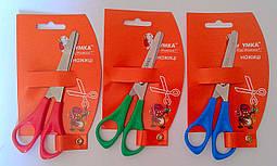 Ножницы детские 13,5 см с линейкой НЦ401  Умка