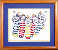 "Набор для вышивания крестом ""On The Line Kitty's//Котята в чулках"" Design Works • dw9997"