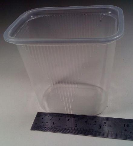 Емкость полипропиленовая прямоугольная (для жидкого и горячего)SL5885  V=500 мл  (50 шт)