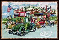 """Набор для вышивания крестом """"Route 66 Farmstand//Придорожная лавка"""" Design Works • dw2938"""