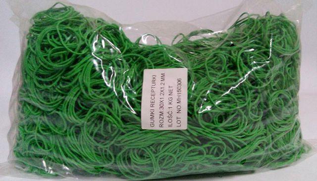 "Резинка для денег 30мм зеленая 1 кг ""Plast"""