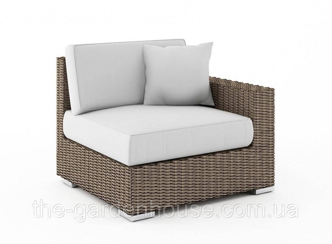 Правый диванный модуль Milano Royal из искусственного ротанга бежевый
