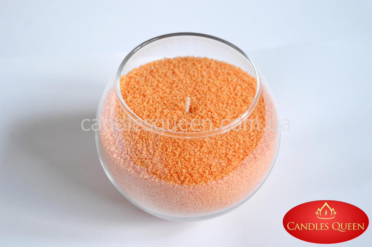 Стеарин в гранулах абрикосовый 1 кг. Для насыпных свечей и литых