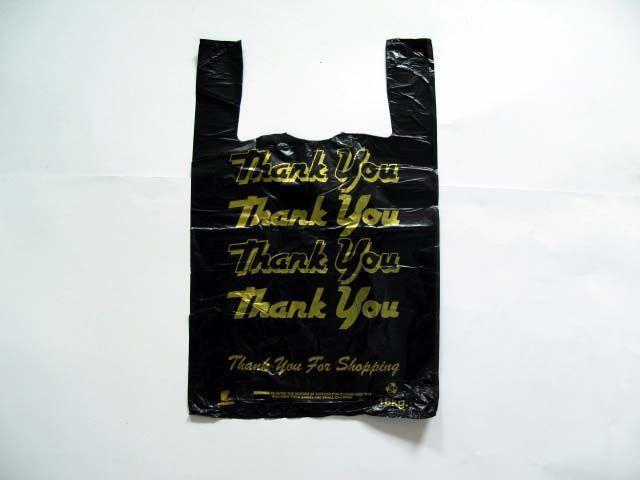 """Пакет полиэтиленовый майка с рисунком 30см 50см """"Комсерв"""" Thank you (250 шт)"""