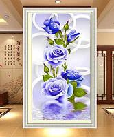 """Набор алмазной вышивки 5D """"Голубые розы"""""""