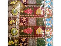 Салфетки бумажные ЗЗхЗЗ 20шт Новогодний коврик (1 пач)