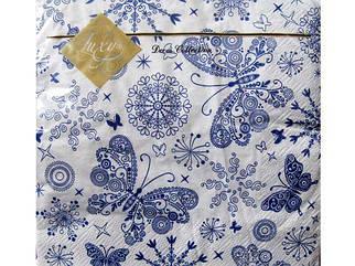 Красивые салфетки для декупажа (ЗЗхЗЗ, 20шт) Luxy  Бабочки