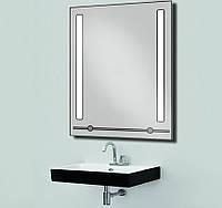 Зеркало с LED подсветкой и полкой d-53 600х800