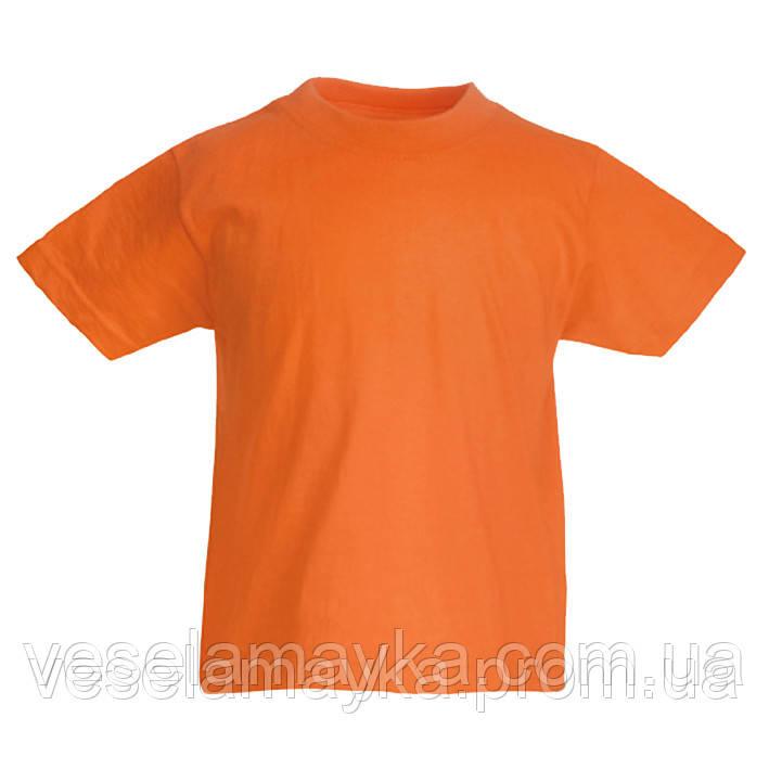 Оранжевая детская футболка (Комфорт)