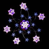 Красивая потолочная люстра с пультом и разноцветной подсветкой, фото 2