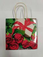 Бумажный подарочный пакет Чашка 16см 16см (12 шт)