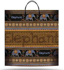 """Пакет Подарочный с пластиковой ручкой """"Слон"""" (10 шт)"""