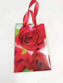 Подарочный пакет глянцевый  8*12*3.5 см арт45 (12 шт)