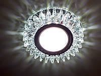 Точечный светильник Z-Light 087 (аналог Feron CD2540) с LED подсветкой (стекло)
