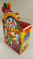 Новогодние коробки под конфеты, Снеговик в шапке (25шт)