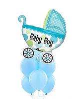 Гелиевые шары на рождение мальчику с коляской