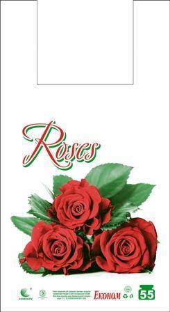 Пакет майка тип FA 29см 55см Роза (100шт)