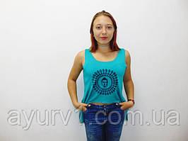 Майка женская с порезной спинкой из Индии/ размер S/ М