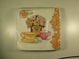 Салфетка (ЗЗхЗЗ, 20шт)  La Fleur Чайная композиция 1001 (1 пач)