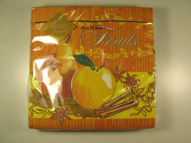 Салфетки бумажные сервировочные (ЗЗхЗЗ, 20шт) Luxy  Спелые фрукты