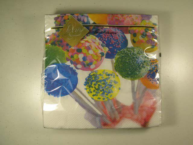 Салфетки бумажные сервировочные (ЗЗхЗЗ, 20шт) Luxy  Чупи-Чупи