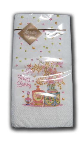 Салфетка (ЗЗхЗЗ, 10шт) Luxy MINI Пахнущий букет 2010 (1 пач)