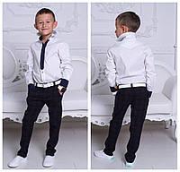 """Стильная рубашка """"Галстук"""" с длинным рукавом из турецкой рубашечной ткани, для мальчиков, разные размеры"""