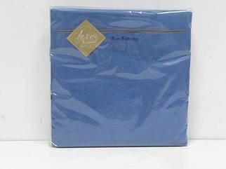 Салфетка (ЗЗхЗЗ, 20шт) Luxy Синий (3-6) (1 пач)