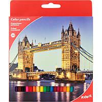 Карандаши цветные Kite Города 24 цвета