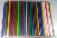 Трубочки широкие для напитков d8 25см Фреш Микс (500 шт)