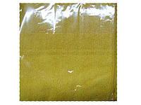 Тряпка салфетка из микрофибры для кухни 30см 30см  Желтая (1 шт)