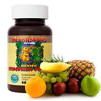 Бифидозаврики. Жевательные таблетки для детей с бифидобакт, Nsp. Витамины, аминокислоты, ферменты