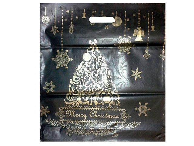 """Пакет  с прорубной ручкой 38см 42см """"Новый год Елка"""" ХВГ (25 шт)"""