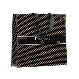 Красивая сумка хозяйственная 36см 34см Диоганаль (10 шт)