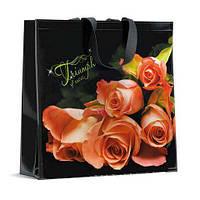 Хозяйственная сумка цветная 40см 40см  Триумф Розы (10 шт)