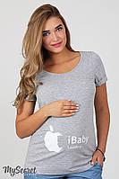 """Трикотажная футболка """"iBaby"""" для беременных и кормящих мам"""