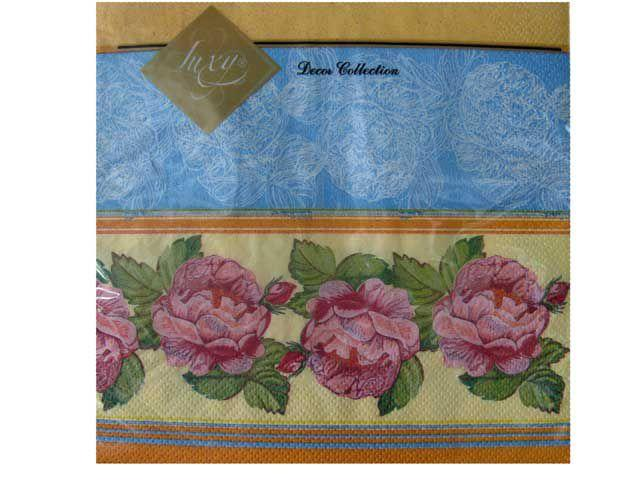 Салфетка (ЗЗхЗЗ, 20шт) Luxy  Садовая роза (677) (1 пач)