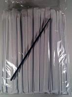 Трубочка для напитков d4.8-21см в индив. упаковке Черная ровная (200 шт)