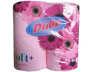 Туалетная бумага  розовая 4шт. Диво СОФТ