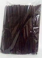 Трубочка для напитков с гофрой d4.8 21см черная (200 шт)