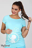 Облегающая футболка-реглан  для беременных