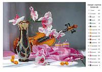 Схема для вышивания бисером DANA Орхидеи и скрипка 26