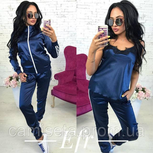 Женский атласный спортивный костюм-тройка P6997  продажа, цена в ... 5961dff2e8d