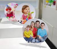 Тарелка 3D с Вашим фото логотипом