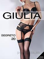 Чулки черные 20 Den Giulia Segreto Nero 3/4