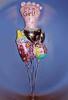 Фольгированные шары на рождение ребенка