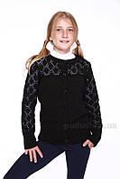 Жакет Ажур для девочки ОТМ Дизайн 5512 черный 134-140